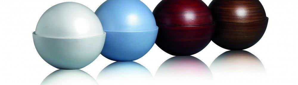 biodegradable ball ashes creamtion urn casket