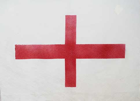 Farewell Flag - ashes water ceremony St george's Cross