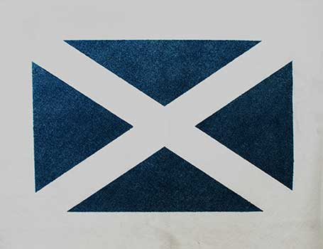 scottish saltire Farewell Flag - ashes water ceremony