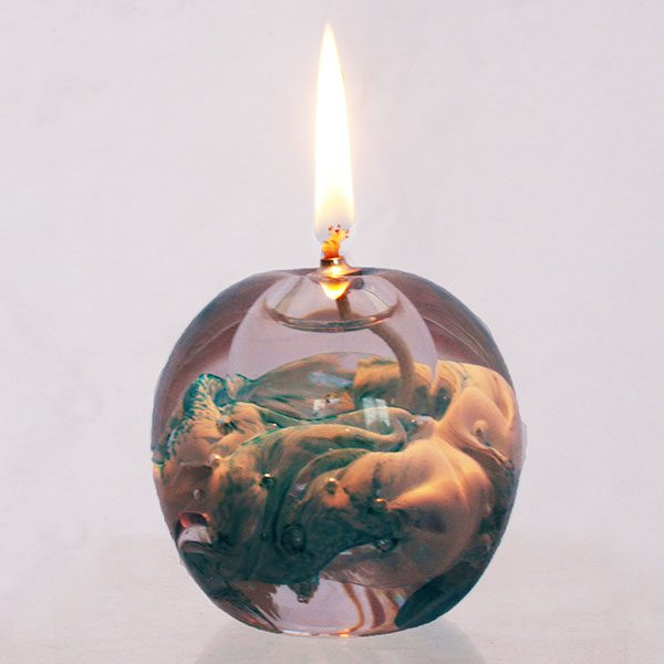 Glass Oil Candle: Eternal Flame - Offshore Breeze