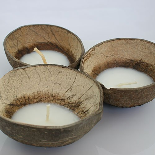 Floating Coconut Candles - Coconut Oil