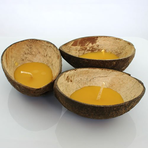 Floating Coconut Candles - Beeswax 3